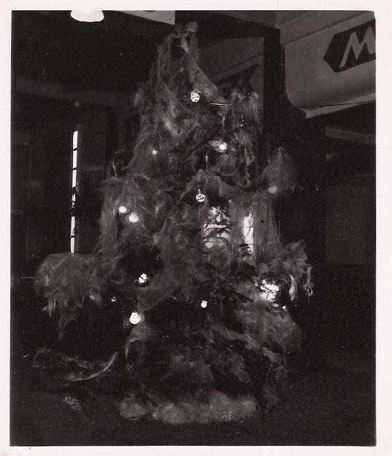 amazing vintage christmas tree notice all of the angel hair that has been spun throughout