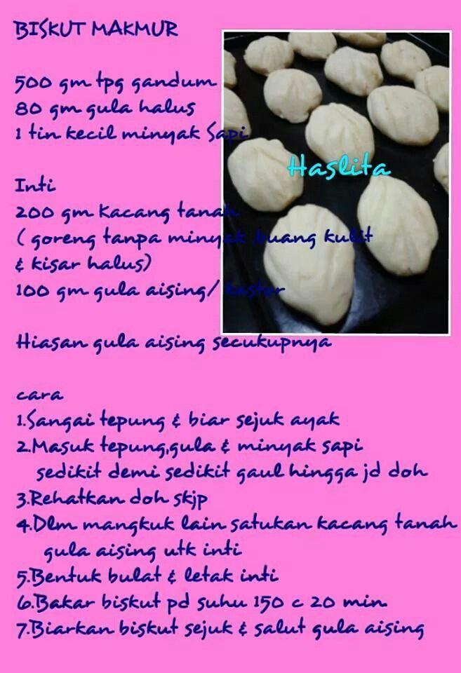 Biskut Makmur Biscuit Recipe Asian Snacks Recipes