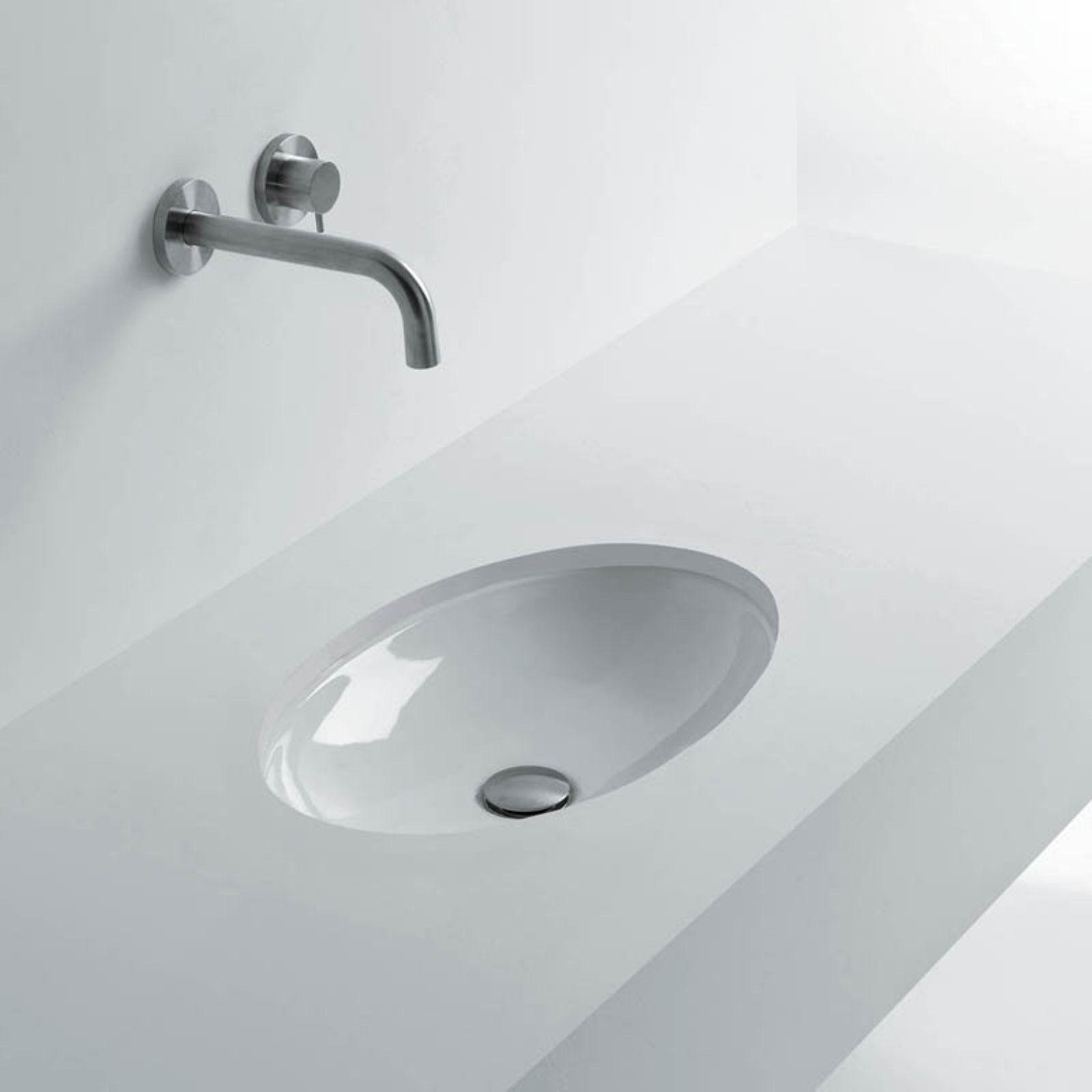Ws Bath Collections H10 40u Oval Undermount Bathroom Sink