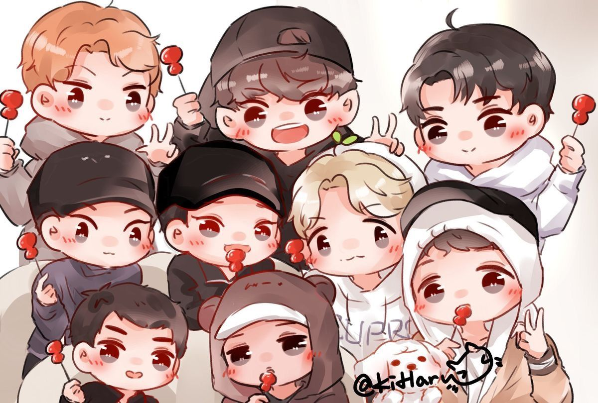 Wallpaper Exo Cartoon Mine Xo97 Exo Lockscreen Pinterest Exo Exo