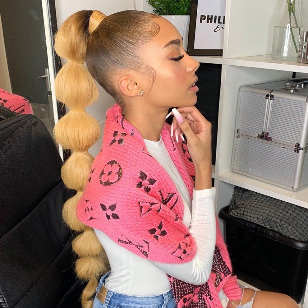 """LACE FRONT WIGS on Instagram: """"The Bubble Pony"""