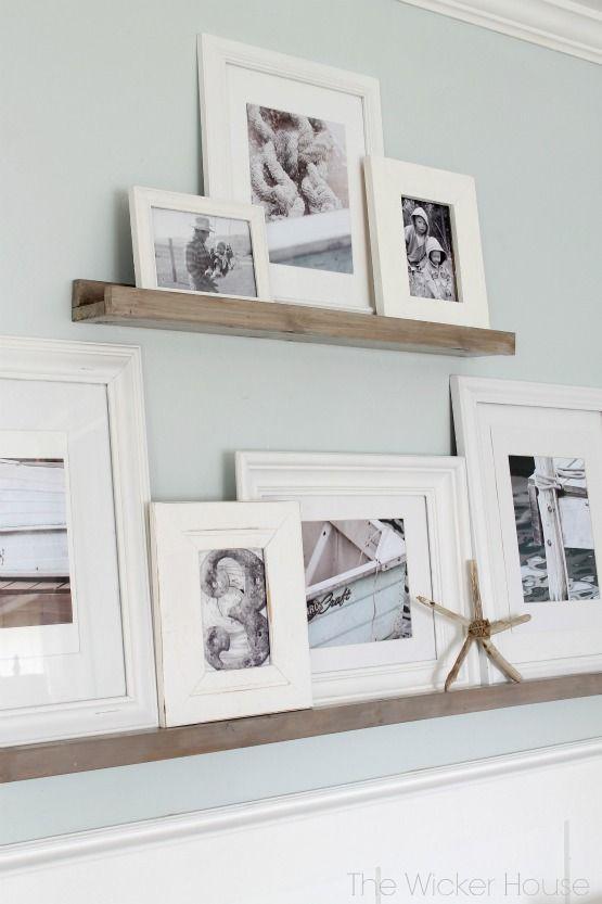 DIY Picture Ledges | Corredores, Decoración de interiores y Pilares