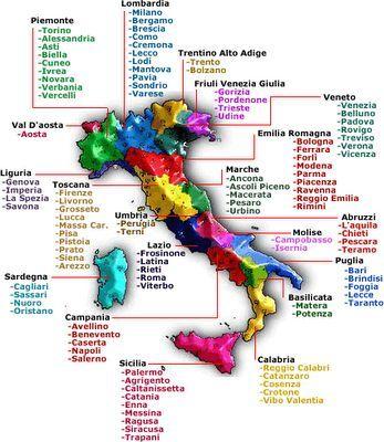 Eingebetteter Bild Link Italienisch Lernen Italien Karte Und