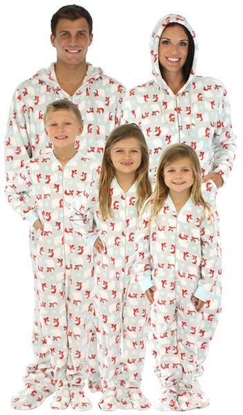 SleepytimePjs Family Matching Holiday Polar Bear Fleece Onesie PJs