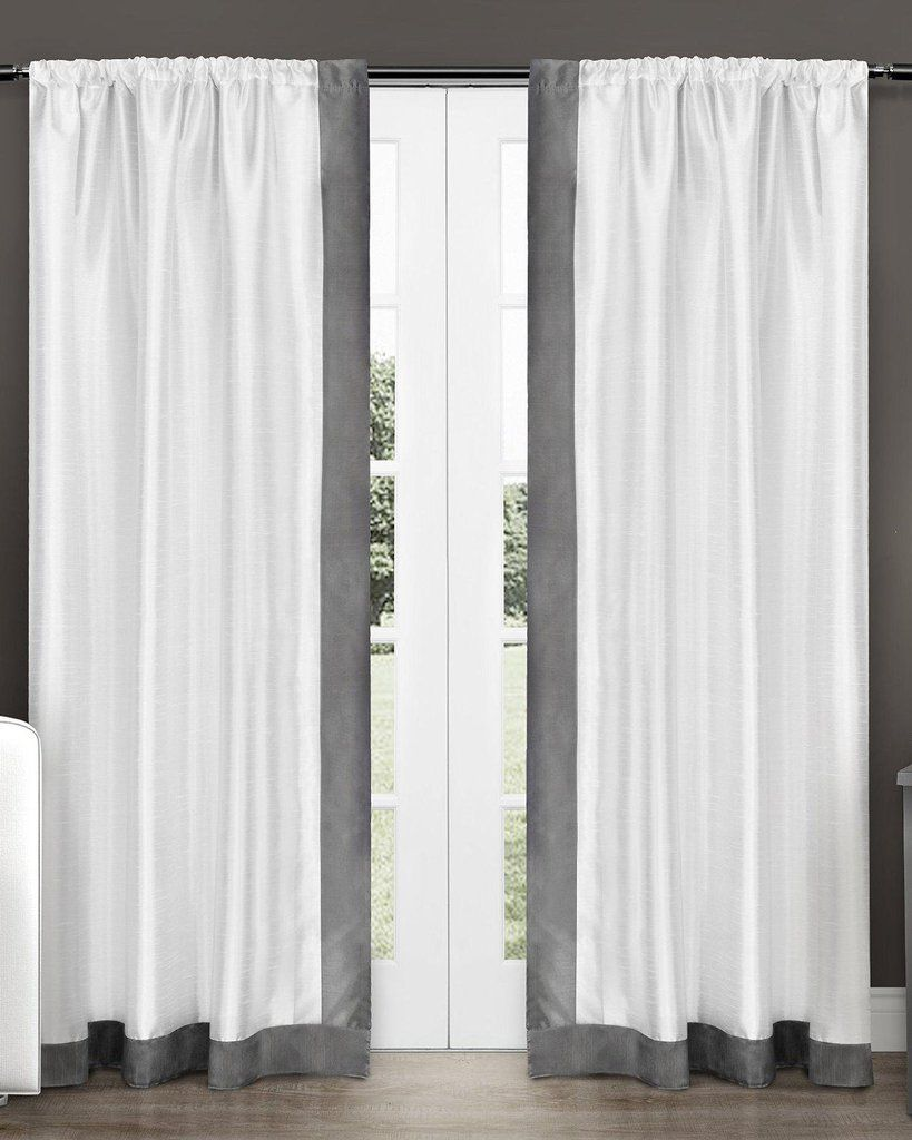 Packed Two Tone Bottom And Edge Border Style Curtain Styles Curtains Style