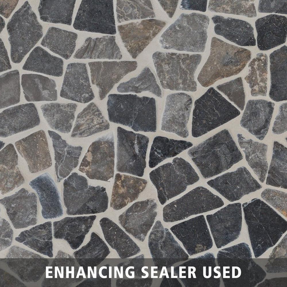 Solo River Gray Pebble Mosaic Pebble Mosaic Entryway Flooring Stone Mosaic