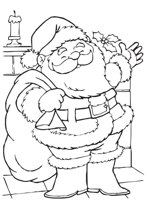 Jolly Santa A4 Jpg 595 842 Christmas Coloring Sheets Santa Coloring Pages Christmas Coloring Pages