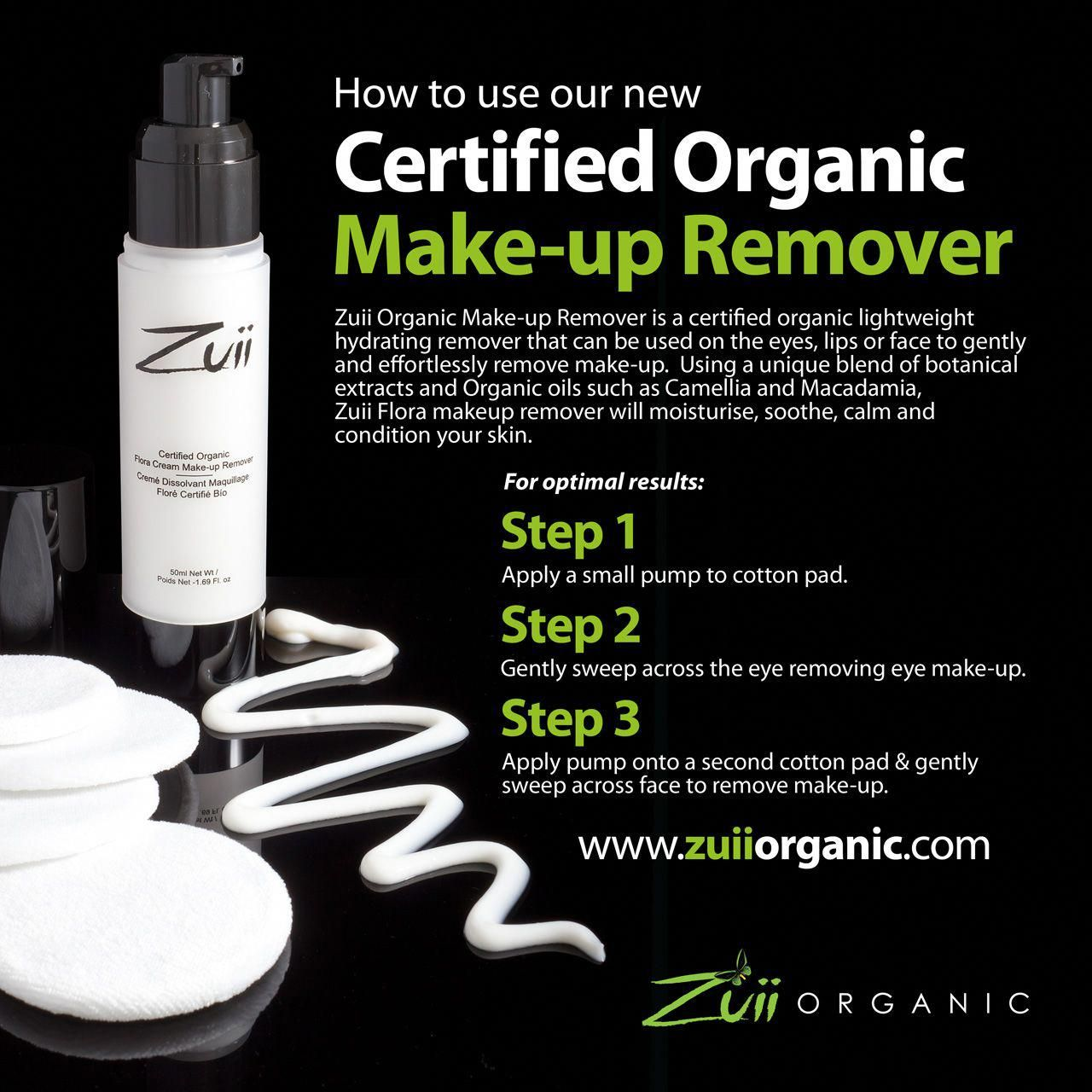 Zuii Organic Makeup Remover does wonders for the skin