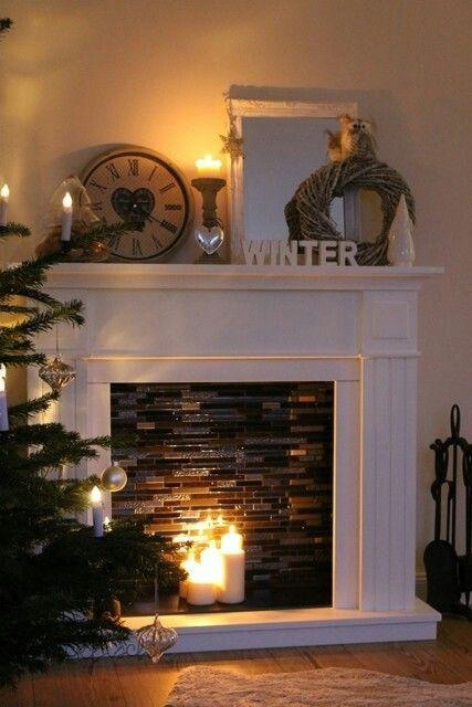 Tile Inside Fireplace Decor Faux Fireplace Diy Fireplace
