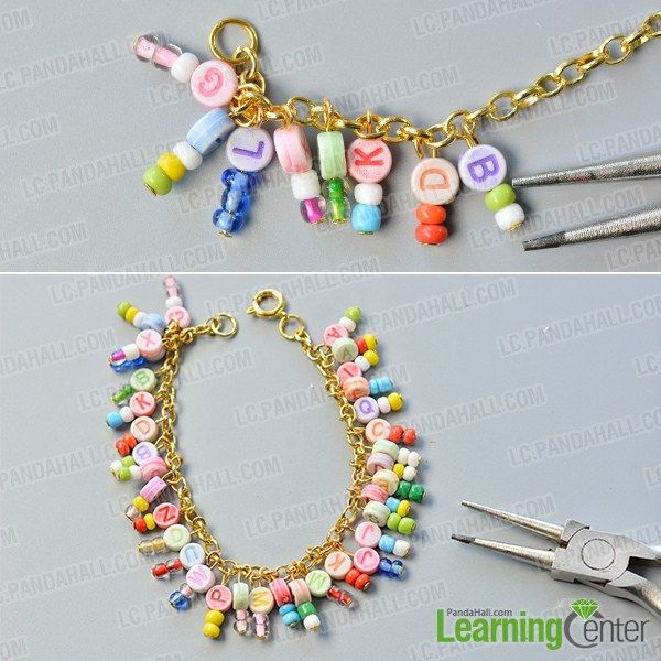 ad8063b70de9e make the second part of the chain and alphabet letter beads bracelet ...