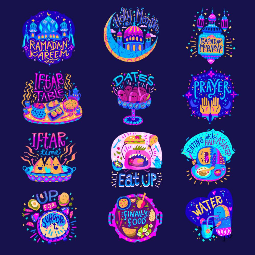 Sandhya Prabhat on Behance in 2020 Sticker design, Art