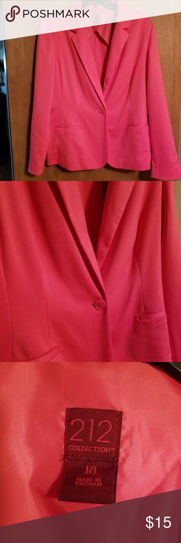 9b5236ee031a4 212 pink blazer jacket nwt size 18 Pink 212 blazer jacket nwt size ...