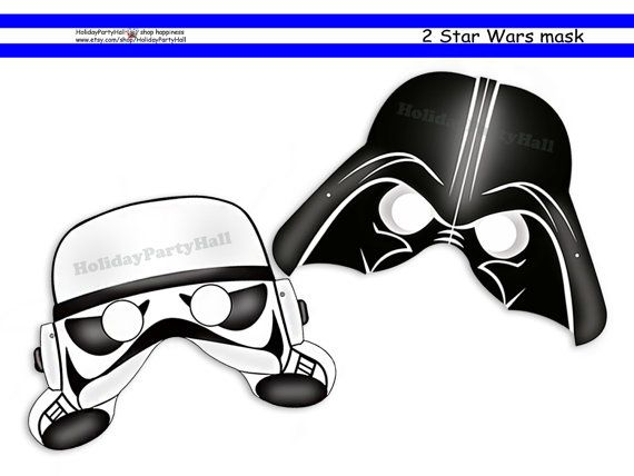 photograph regarding Darth Vader Printable Mask named Distinctive Star Wars Printable Masks,Darth Vader,Storm Trooper