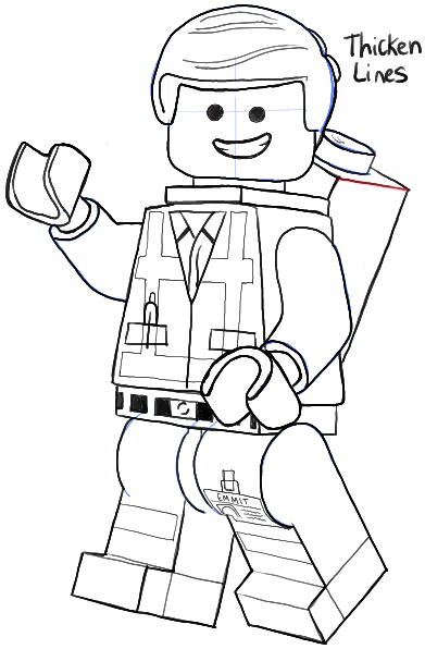 How to Draw Emmet from The Lego Movie and Lego Minifigures Drawing ...
