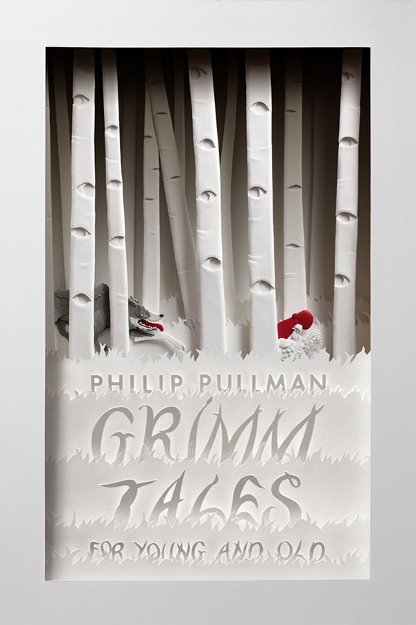 "I illustrated a cover for the book ""GRIMM TALES for YOUNG and OLD"" by Philip Pullman."