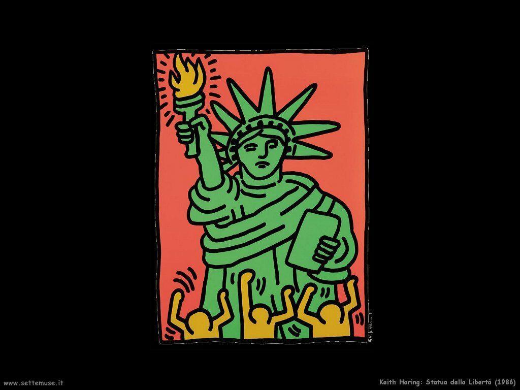 Statue Of Liberty Keith Haring Statua Della Libert 224 Keith Haring