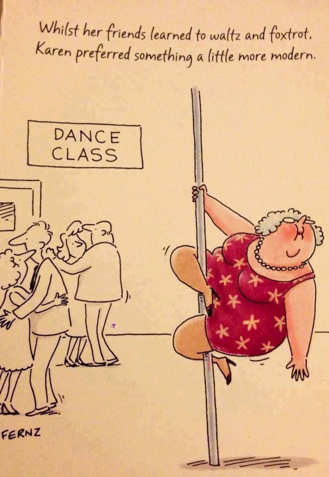 Fat Lady Pole Dancer