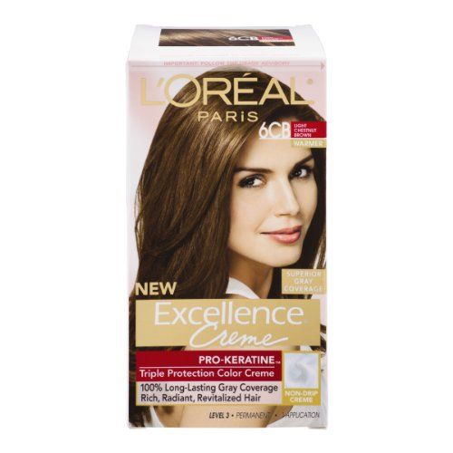 Loreal Paris Excellence Creme Warmer 6cb Light Chestnut Brown Permanent Haircolor 1 Ct Pack Of 3 You Can Get Additional Details At The Affiliate Link