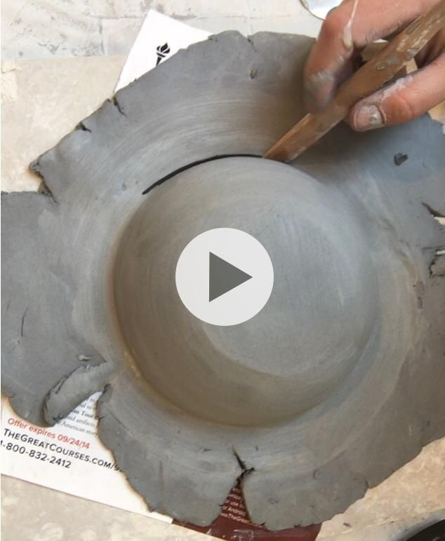 In the Studio Forming Hand Built Bowls - Debra Bradford-Robinson #potterytechniques