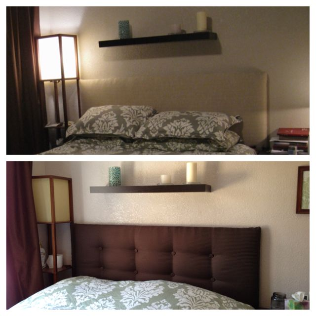 Homemade Head Board before & after homemade headboard. | for the home | pinterest