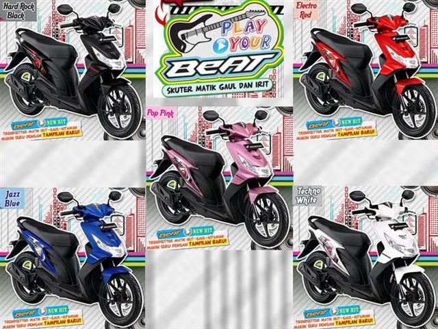 Honda Beat Rp 40 000 24hrs Exclude Helm Raincoat Black And Red