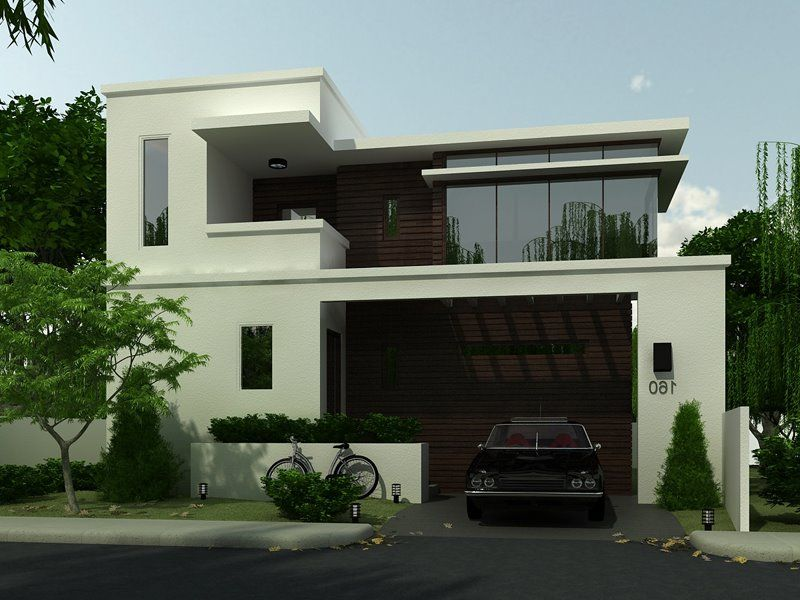 Black White Simple House Design Contemporary House Exterior