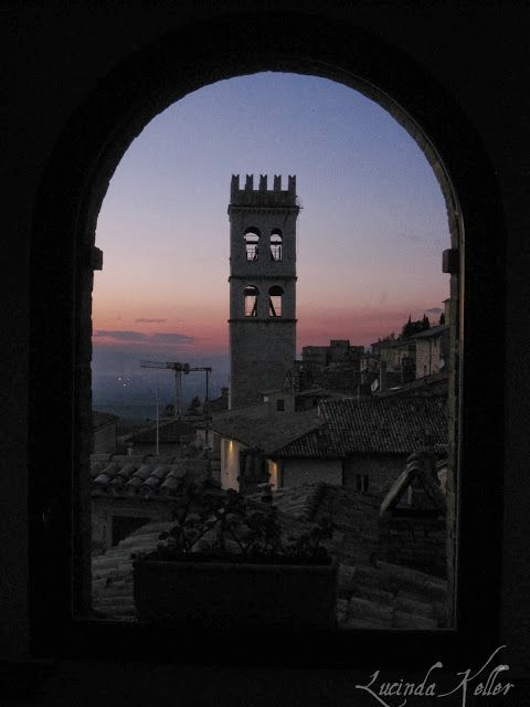 Assisi Italy via Cobalt Violet