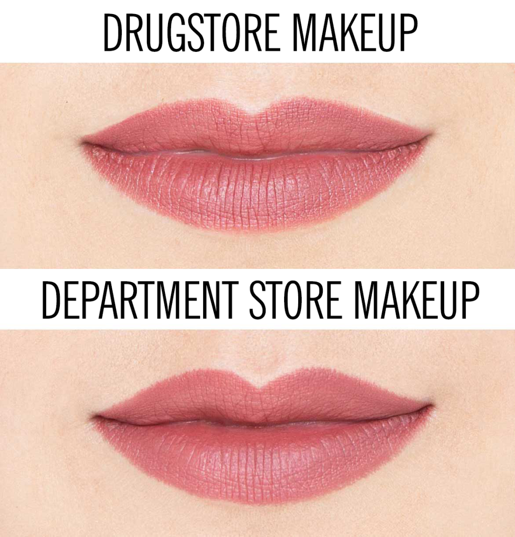 Here S The Difference Between Drugstore And Department Store Makeup Department Store Makeup Beauty Hacks Eyelashes Drugstore Makeup