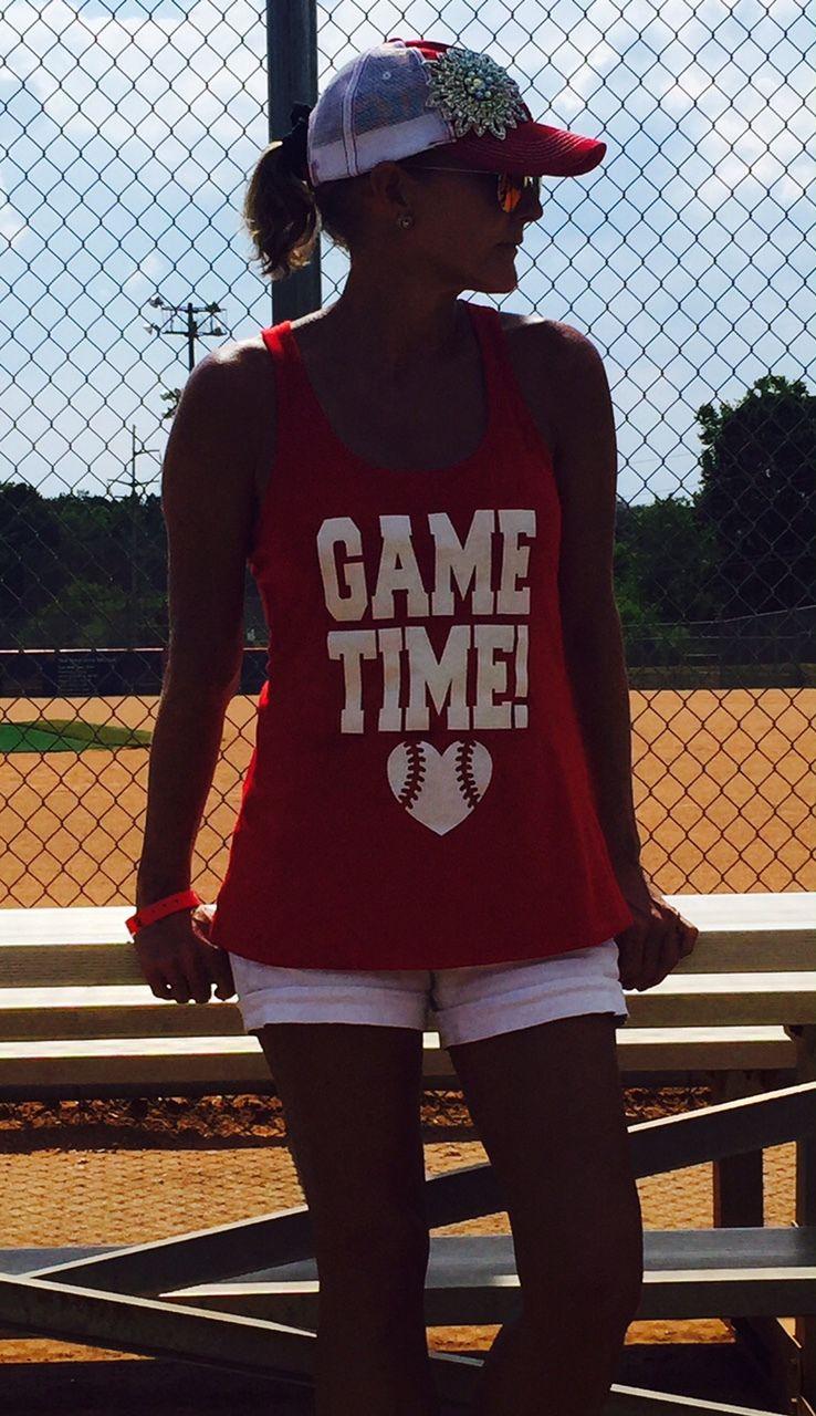 Game Time Baseball Tank Baseball mom shirts, Baseball