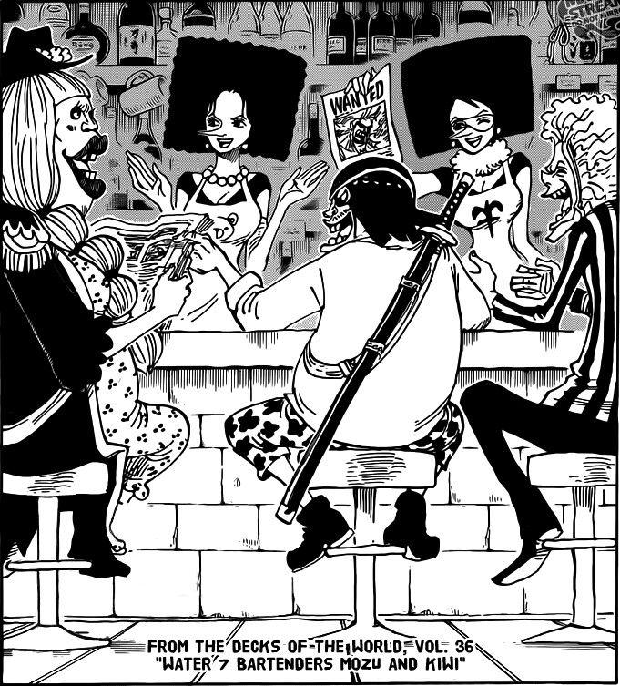 One Piece 2 Years Later Kiwi Mozu New Bartenders With Lola