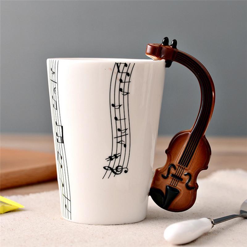 Guitar Musical Instrument Ceramic Mug | Ceramic cups, Mugs