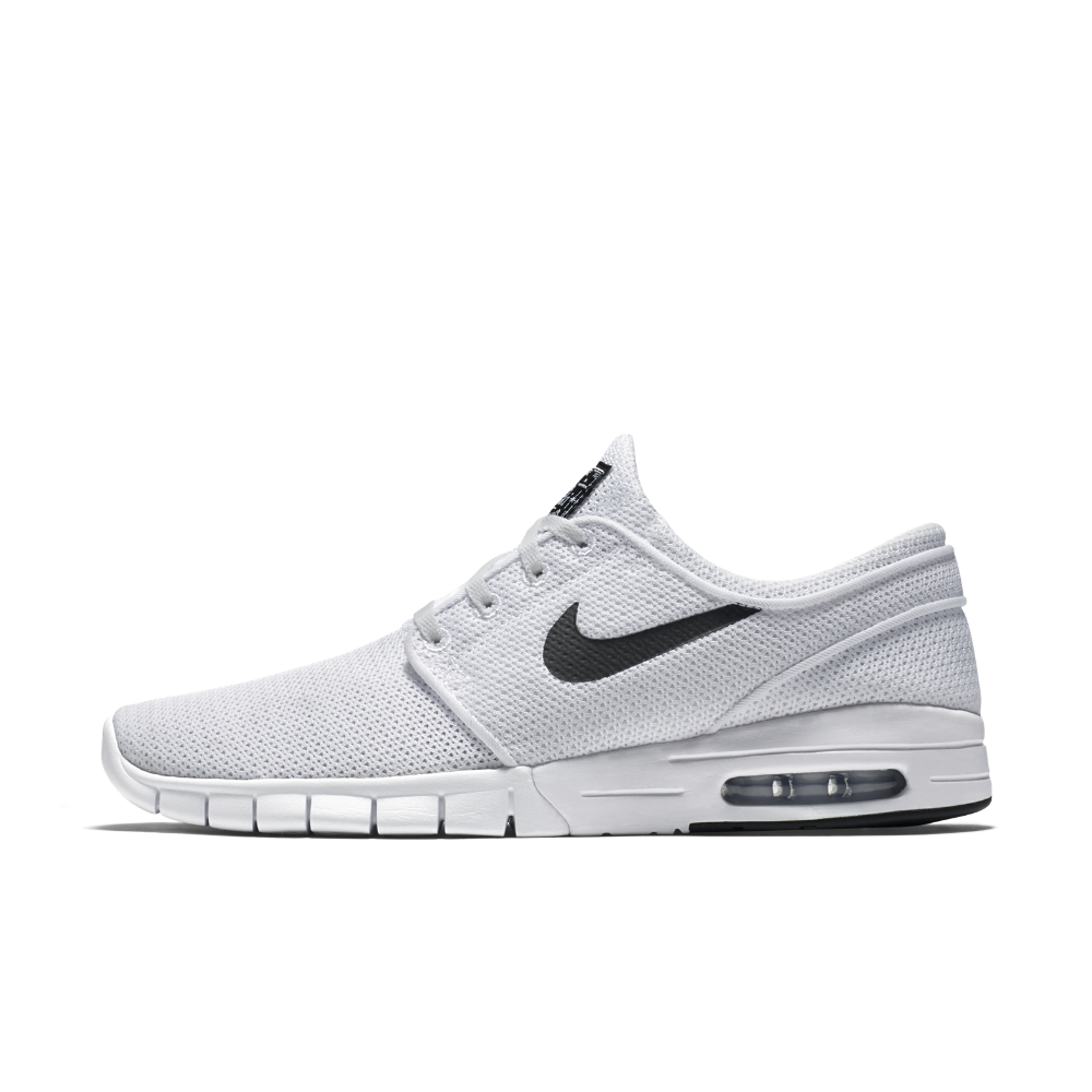 Herren Nike Sb Stefan Janoski Air Max Weiß & Weiß Schuhe
