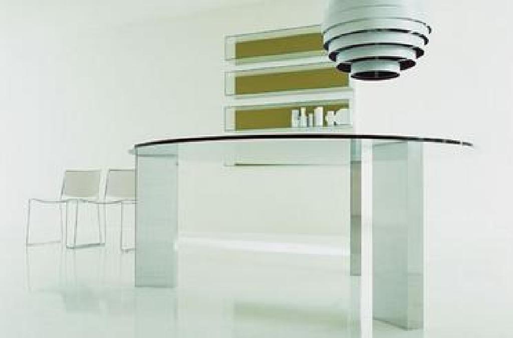 Tavolo Porro ~ Tavolo porro colore trasparente tavolo beam glass piano tondo