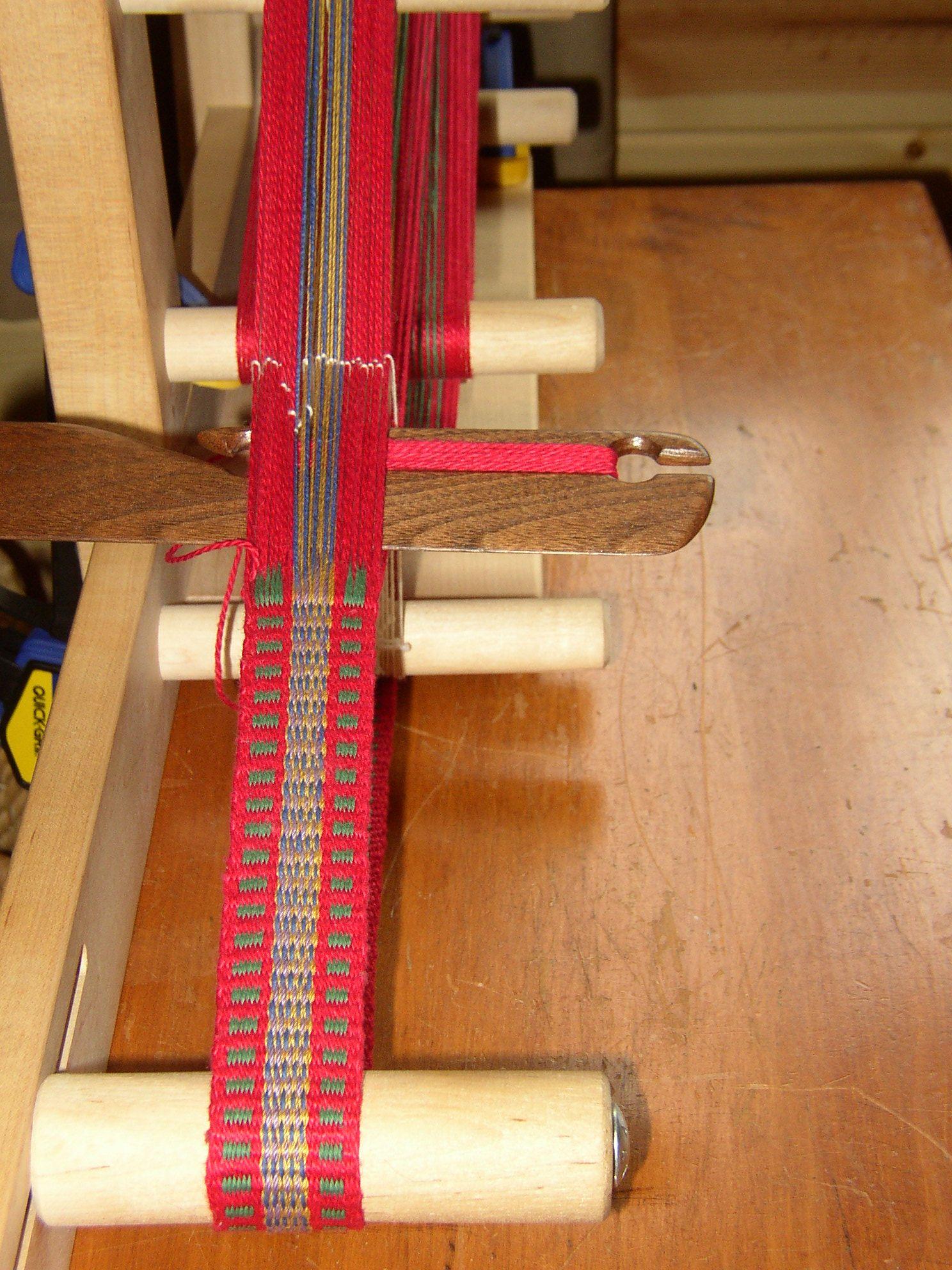 Inkle loom weaving for Fleece Rug