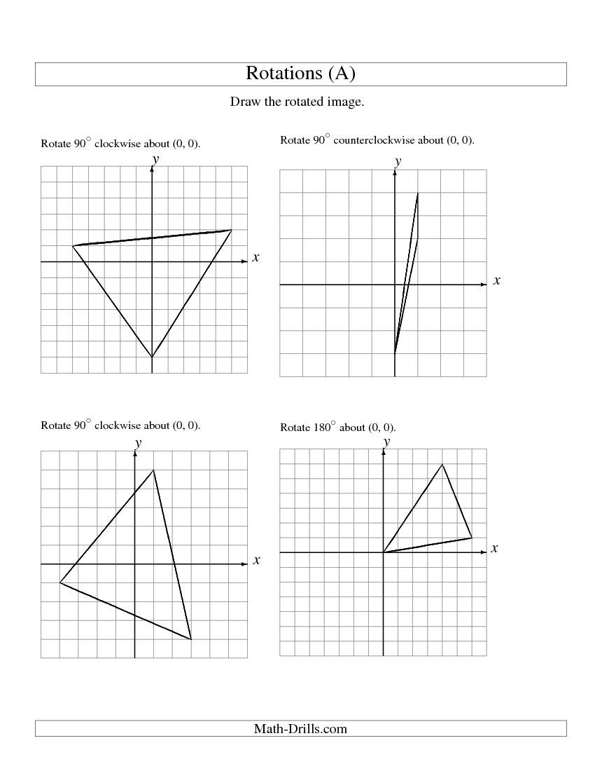 worksheet Rotation Worksheets rotation of 3 vertices about the origin a school stuff a
