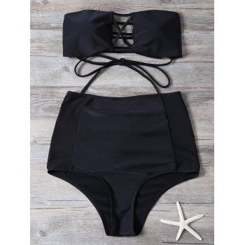 SHARE & Get it FREE | Strapless Cut Out High Waisted Bikini SetFor Fashion Lovers only:80,000+ Items·FREE SHIPPING Join Dresslily: Get YOUR $50 NOW!