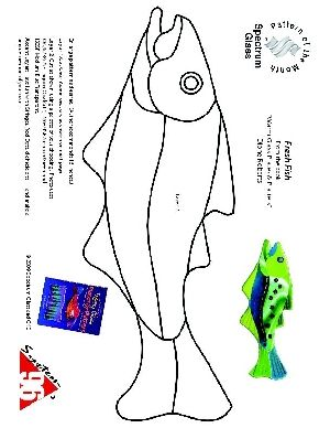 Free spectrum score pattern fresh fish free patterns for Stained glass fish patterns