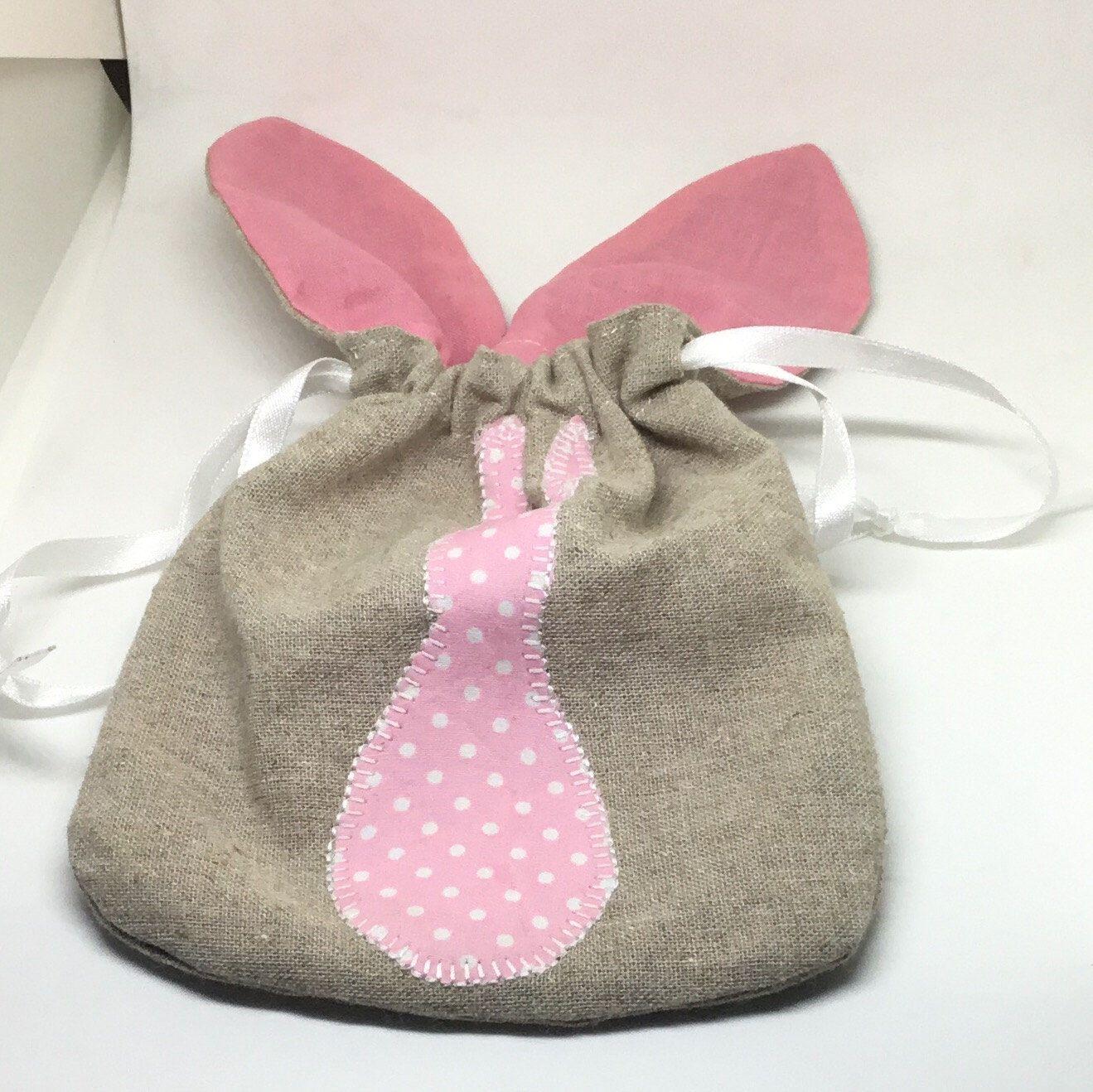Party favour bag drawstring bag appliqu design bag gift bag for bunny gift bag easter bag gift bag easter treat bag drawstring bag negle Images