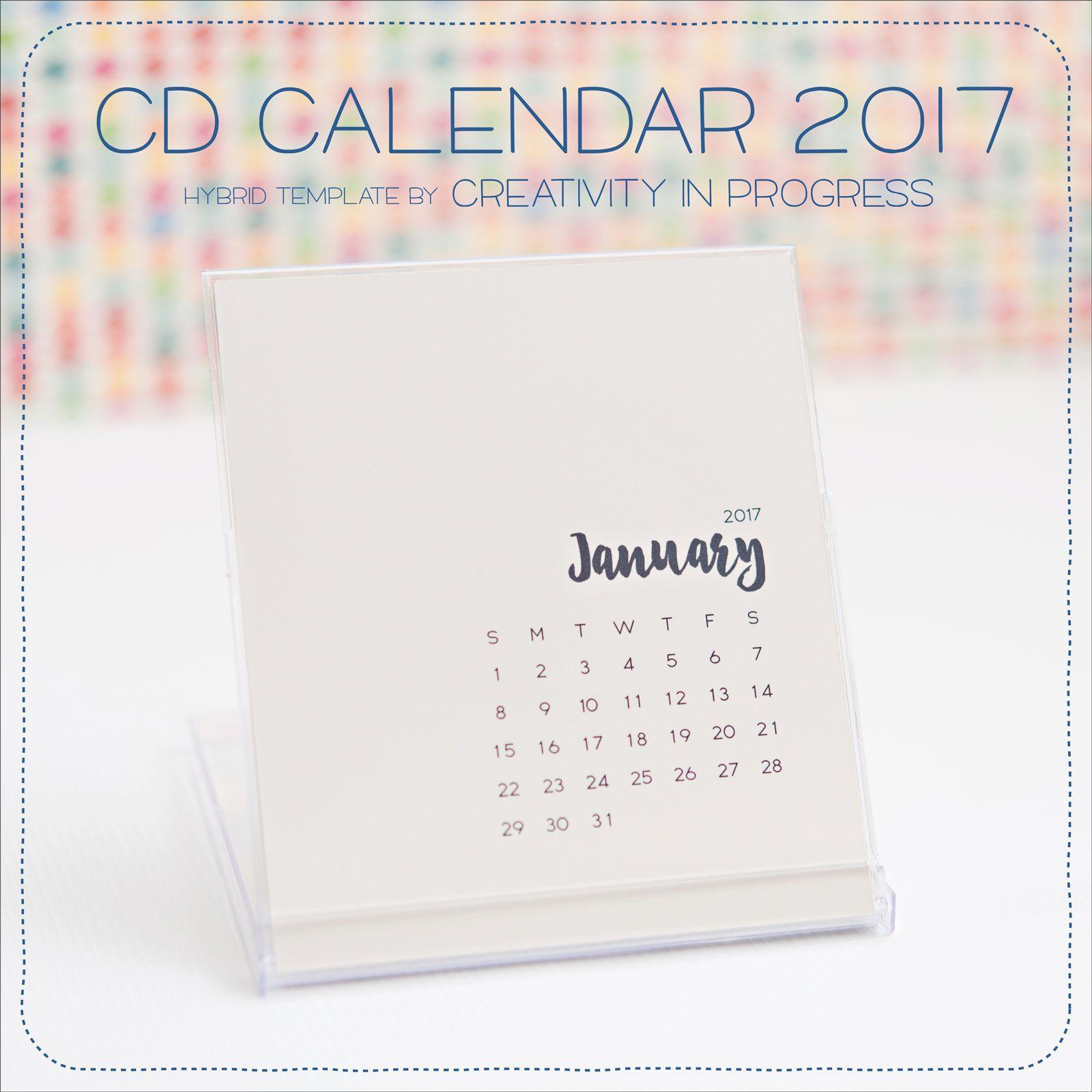 Cd Case Desktop Calendar Template Printable Creativityinprogress