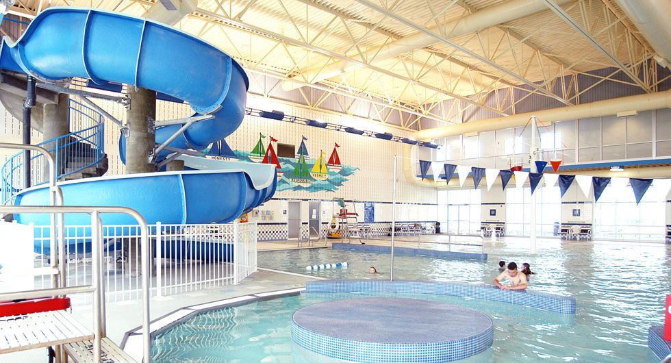 Countryside ymca family aquatic center yes you can run around the indoor track and watch your for Indoor swimming pool in lebanon