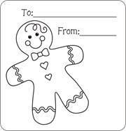 Christmas Gift Tags To Color Free Printable For Kids Gingerbread