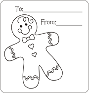 Christmas Gift Tags To Color Free Printable For Kids Gingerbread Boy Coloring Pages