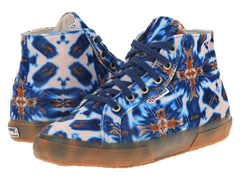 Womens Shoes Superga 2095 Velvetolmow Batik Blue/Brown