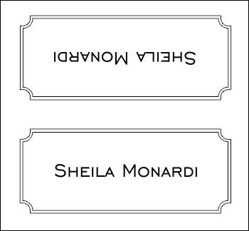 Deco Border Place Card Template Table Name Cards Tent Cards