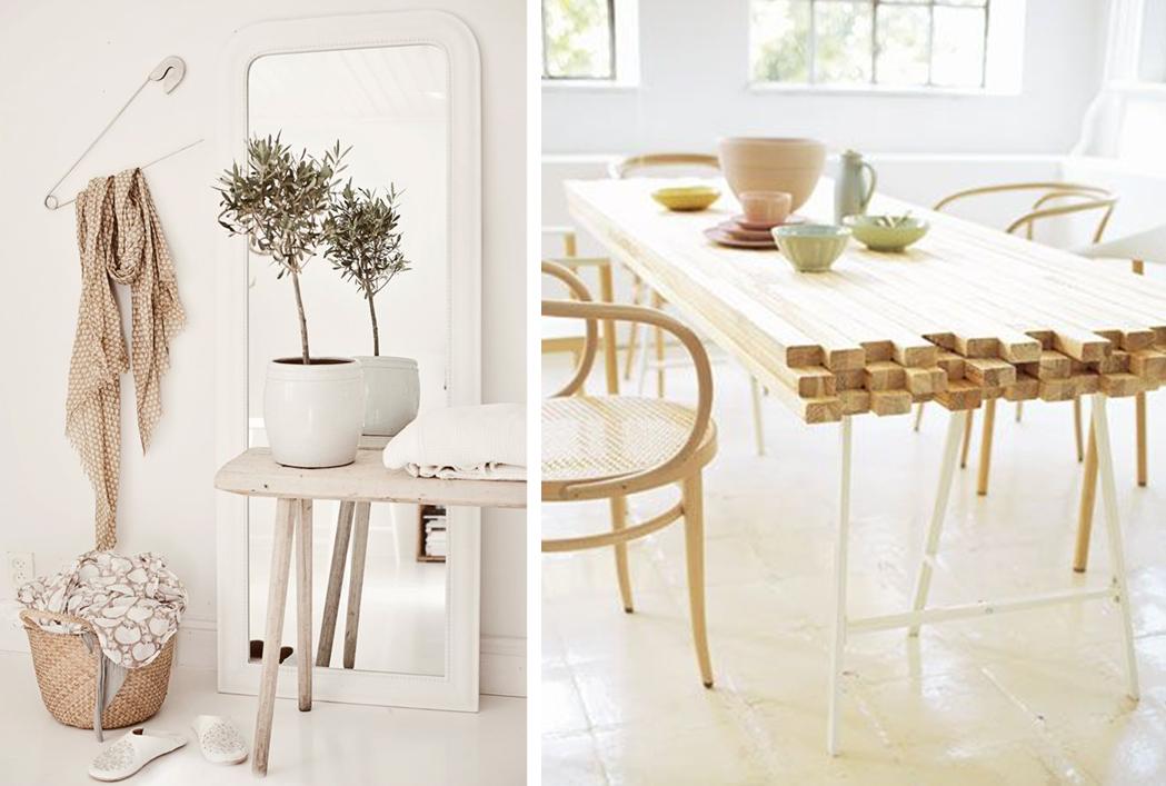30 idées pour un intérieur en blanc et bois brut | Blog deco, Deco ...