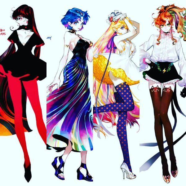 Sailor senshi #sailormoon #sailorvenus #sailormercury #sailormars #sailorjupiter  sc 1 st  Pinterest & Wonderful fan art! Sailor senshi #sailormoon #sailorvenus ...