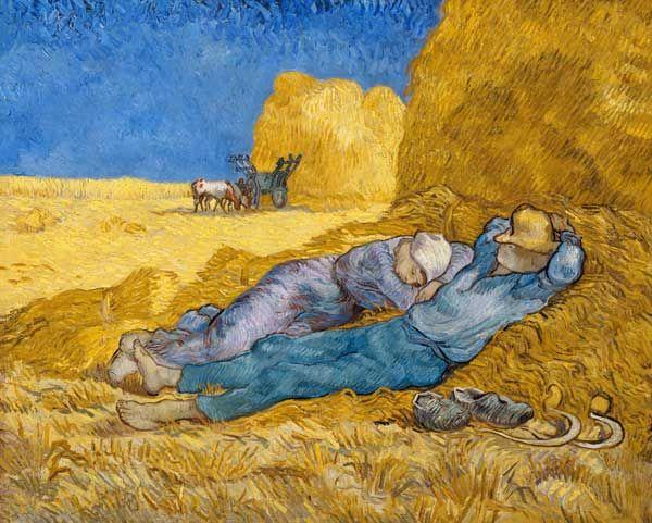 La Meridienne Ou La Sieste Peinture Huile Sur Toile De Vincent Van Gogh Peintures De Van Gogh Vincent Van Gogh Van Gogh