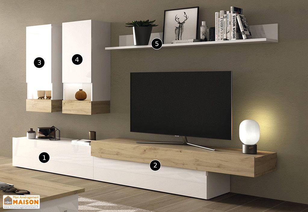 meubles salon en bois 1 meuble tv 2