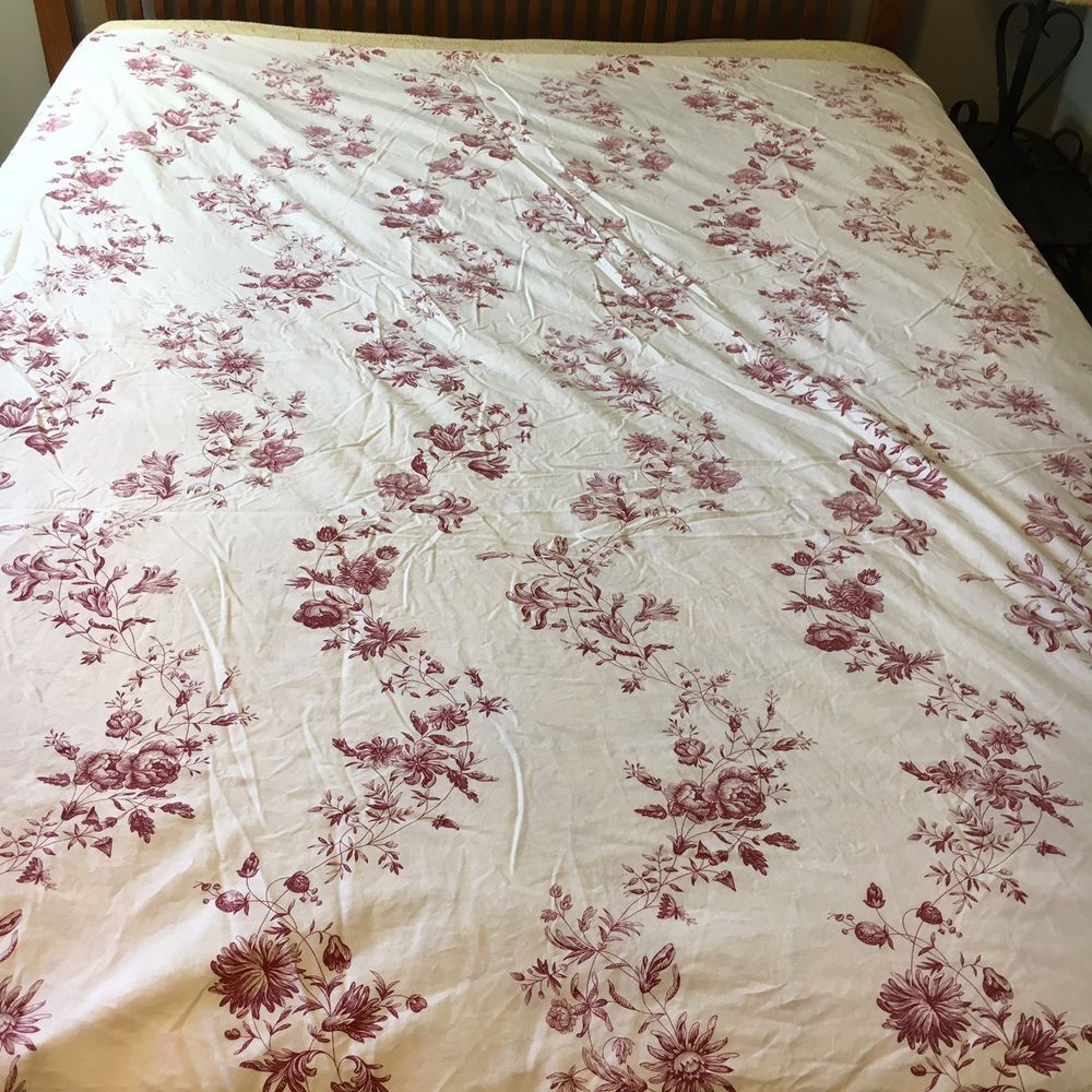 Ikea Alvine Skon White Red Floral Toile F Q Duvet Cover Reversible Tie Closure Ebay Ikea Shopping Make Your Bed Floral Toile