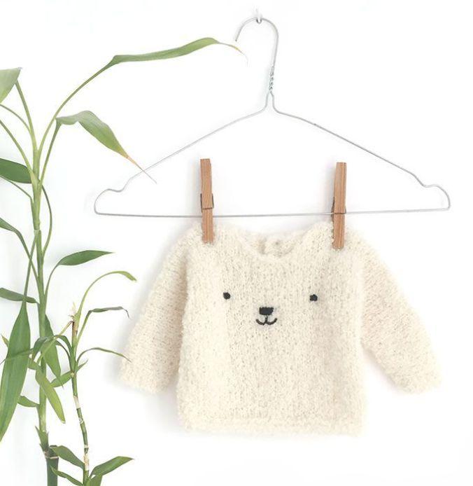 Jersey de bebé de punto a dos agujas - Teddy Baby | Сrochet and ...